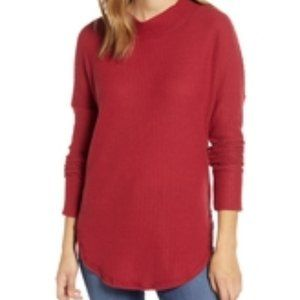 Caslon Thermal Knit Tunic Size S